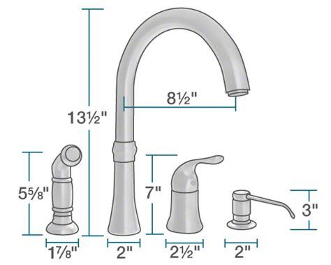 Four Hole Kitchen Faucet 710 c chrome four hole kitchen faucet
