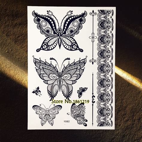 henna tattoo black ink online buy wholesale black ink butterfly tattoos from
