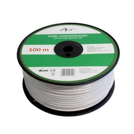 Kabel Speaker 2x120 100m kabel koncentryczny rg6 cu cu cu rolka 100m oświetlenie led