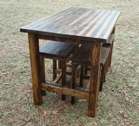 Log Pub Table And Stools by Bar Table And Stools Pub Table Wood Bar By