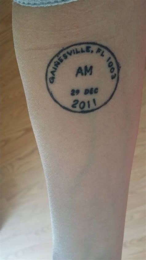 birthdate tattoos birthdate postal meter st inked
