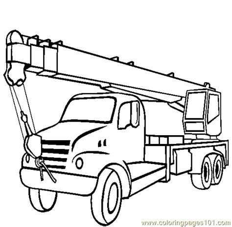 coloring page crane truck free the construction cranes coloring pages