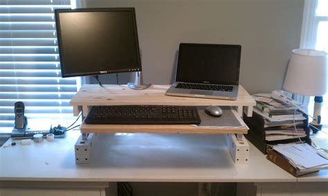 Adjustable Standing Desk Diy Diy Adjustable Desk For 25 Code Easy