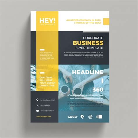 creative corporate business flyer template psd file free