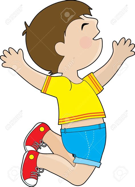 jump clipart jump clipart excited boy pencil and in color jump