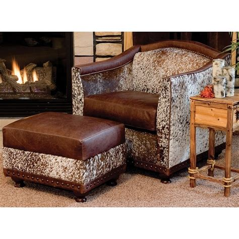 cowhide chairs and ottomans cowhide chair and ottoman a creative mom