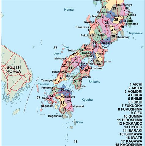 political map of japan japan political map illustrator eps city country maps