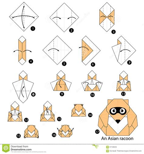 How To Make An Animal Out Of Paper - step by step how to make origami an asian