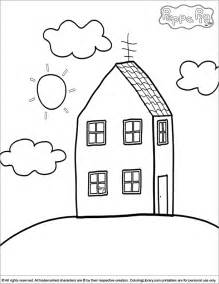 peppa pig house colouring pages