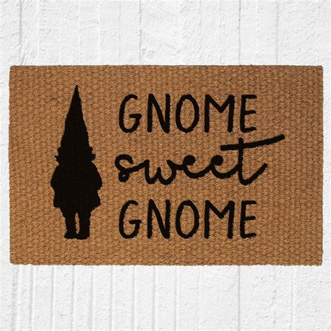 Gnome Welcome Mat by Gnome Sweet Gnome Doormat Welcome Mat Outdoor Rug