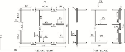 floor plans of the log house all dimensions in cm