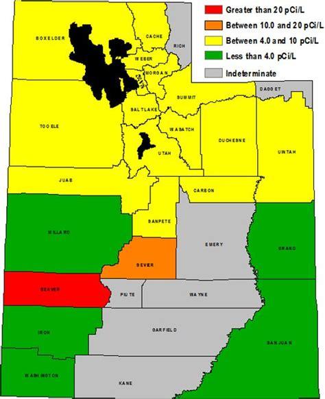 zip code map ut radon map of utah health pinterest