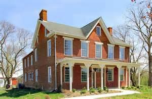 Historic Farmhouse Floor Plans by Maryland Historic Brick Farmhouse Circa Old Houses Old
