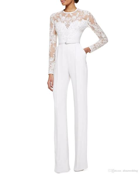 Hq 17529 Overall Trousers Black 2015 white elie saab sleeve lace embellished jumpsuit