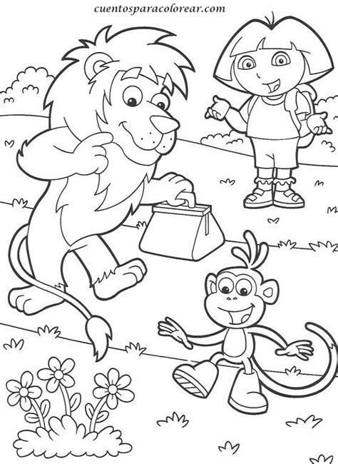 imagenes educativas para imprimir y colorear dibujos para colorear dora la exploradora