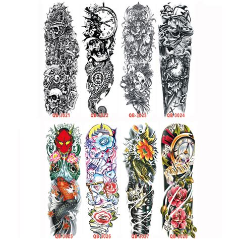tattoo prices for full sleeve 3pc temporary tattoo sleeve designs full arm waterproof