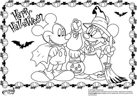 mickey mouse coloring pages for halloween halloween mickey mouse coloring pages az coloring pages