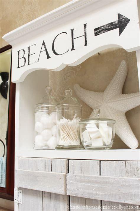 beach house bathroom storage beach inspired bathroom cabinet confessions of a serial
