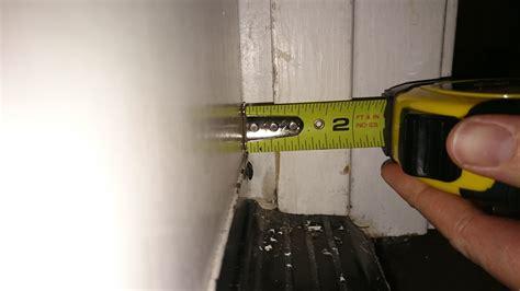 gap door uneven big gap between door and stop trim weatherstip will