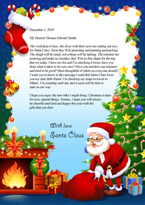 letter from santa claus letter from santa claus brownbooksandprints