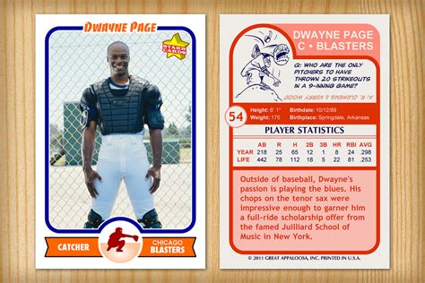 back of baseball card template baseball card template