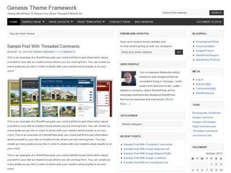 wordpress layout framework genesis wordpress theme framework methemes