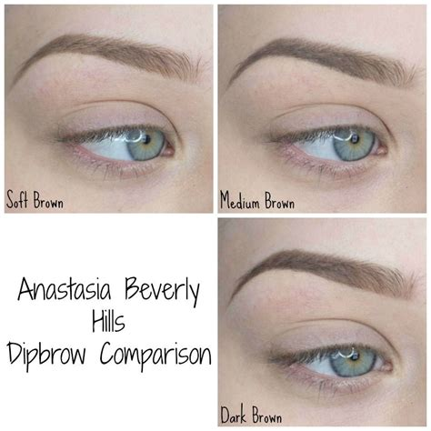 anastasia brow pomade swatches anastasia beverly hills dipbrow comparison sultry