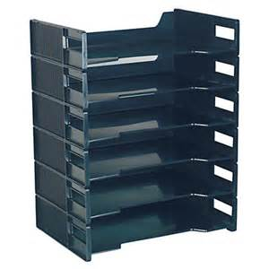 Office Depot Coupons Stackable Innovative Storage Designs Stackable Letter Trays Black