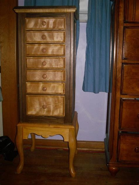 Custom Jewelry Armoire by Made Jewelry Armoire By Woodplank Wishes Sawdust