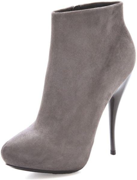 grey high heel booties viktor rolf suede high heel booties in gray grey lyst