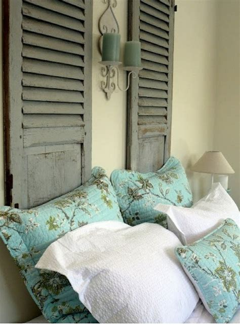shutter headboard bedrooms pinterest shutter