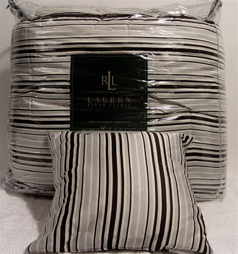 ralph lauren striped comforter ralph lauren wiltshire black cream stripe full queen