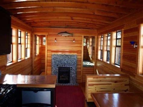 most expensive tiny house teak w a fireplace cer boho pinterest teak