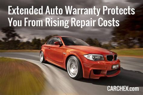 extended auto warranty protects   rising repair costs