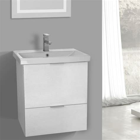 24 inch white vanity cabinet 24 inch wall mount sherwood white vanity cabinet with fitted sink arcom me02 thebathoutlet