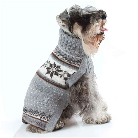 puppy sweaters mystic snowflake handknit alpaca sweater designer clothes at glamourmutt