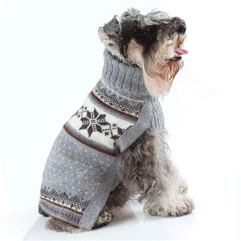 puppy sweater mystic snowflake handknit alpaca sweater designer clothes at glamourmutt