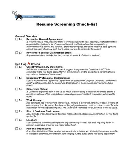 Resume Screening by Tools For Focusing Sales Resources The Mindshare Manager