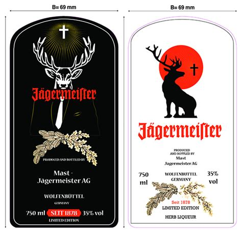 Template For Jagermeister Limited Edition On Behance Jagermeister Label Template