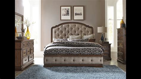 amelia upholstered bedroom set  liberty furniture home gallery stores youtube