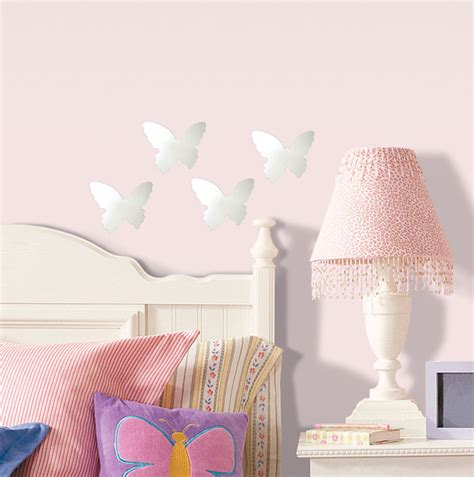 butterfly mirror wall stickers butterfly mirror wall stickers small 4 pieces stickers for wall
