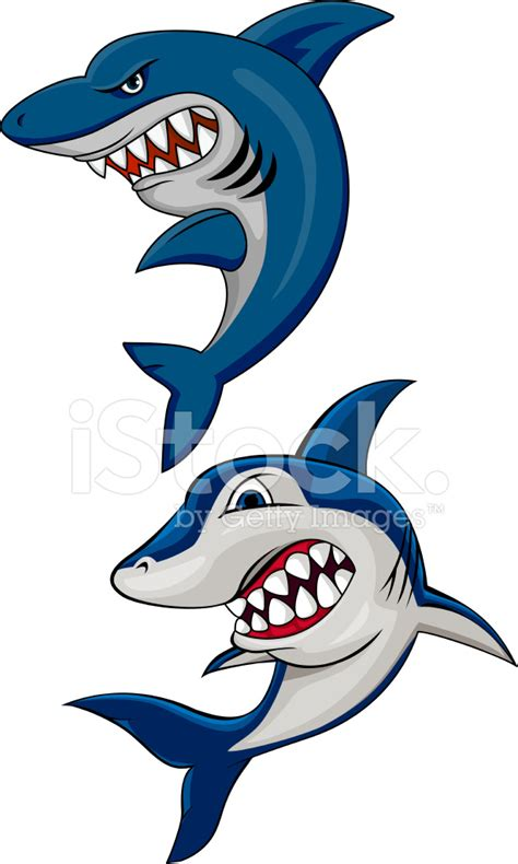angry shark cartoon stock vector freeimages com