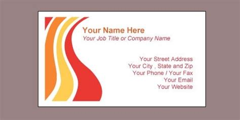 microsoft office visiting card templates free business card template microsoft word