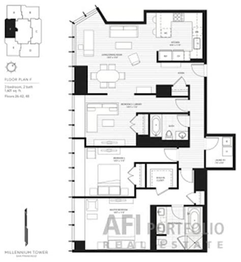 san francisco floor plans san francisco condos for sale millennium tower san francisco