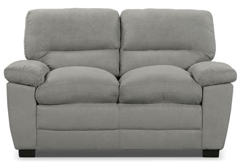 microsuede loveseat peyton microsuede loveseat grey the brick