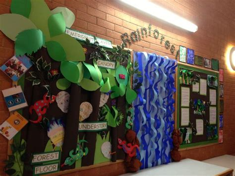themes for ks2 my rainforest classroom display ocean and land theme