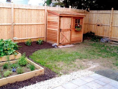 Shed Fence by The Cedar Lean To Shed Fits Nicely Along A Fence And Is