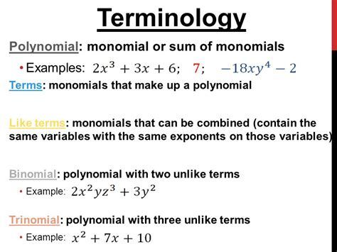 5 1 monomials objectives multiply and divide monomials