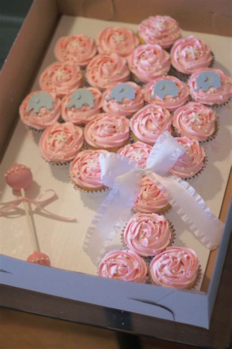 Baby Shower Pink Cupcakes by Baby Rattle Cupcake Cake Elephant Cupcakes Baby Shower