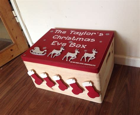 decorated christmas boxes ideas sale christmas eve box large family size decorated